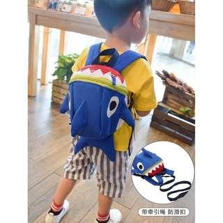kids children canvas backpack cartoon baby shark boy girl bags bag school fashion