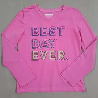 Pink Long Sleeves For Girls 10 Years Old