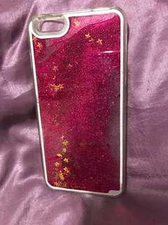 iPhone 6 Plus pink glitter cover