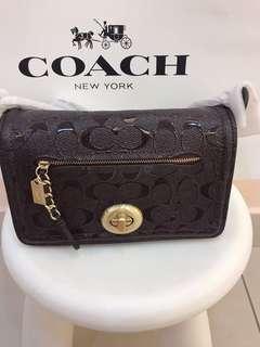 Original coach women clutch wristlets wallet purse sling bag