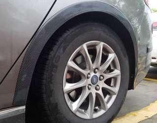 私家車 碳纖維輪眉2條