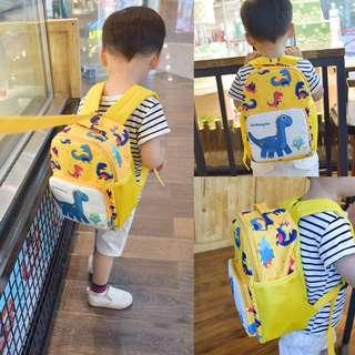 kids children canvas backpack cartoon Dino Dinosaur boy girl bags bag school