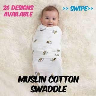 🚚 Sale! Newborn Baby Muslin Cotton Swaddle