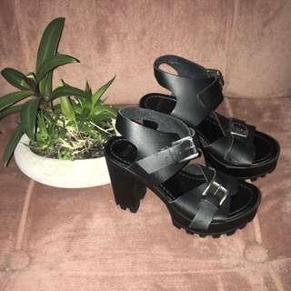 ASOS Black Chunky Platform Heels