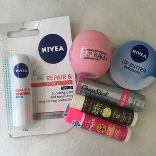 All New Assorted lip care products