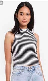 striped halter top