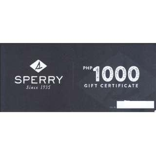 20% off Sperry Gift certificate voucher