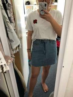 New High waisted denim skirt