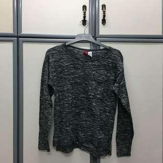 H&M Grey Long Sleeve Top