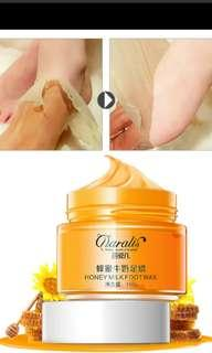 Honey milk foot wax