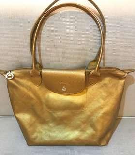 ORIGINAL Longchamp Metallic Gold Small