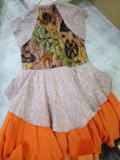 Dress Anak motif Batik