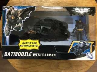 "Mattel Batman The Dark Knight Rises Batmobile with 3.75"" figure 夜神起義蝙蝠車連3吋半蝙蝠俠"