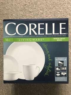 全新 美國康寧 白色16件套裝 Corelle Livingware Corning 杯碟餐具
