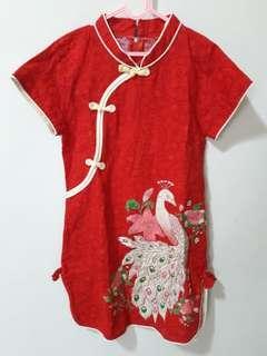 dress cheongsam red