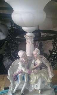 Lampu antik patung eropa T.kap 40cm T.patung 20cm