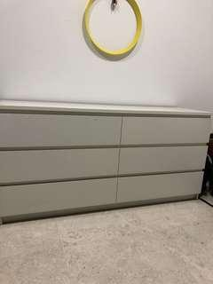 Ikea 6 chest of drawers white