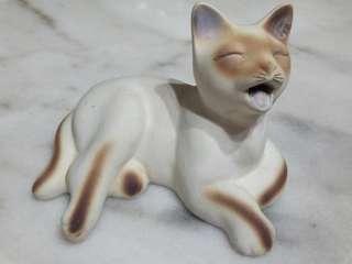 Sleepy Cat Figurine