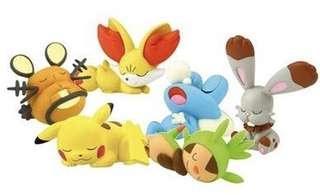 #寶可夢 #神奇寶貝 #pokemon #扭蛋 #哈利栗 #皮卡丘 #睡覺 #公仔 #全新現貨