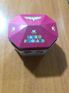 絕版 Sanrio Puroland 八角型多角色人物鐵罐