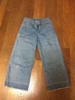🚚 韓國品牌 牛仔寬褲