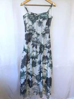 FRENCH CONNECTION high and low floral dress