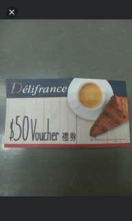 Delifrance $50 禮券