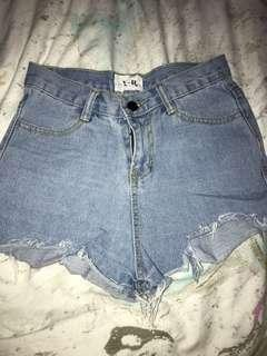 Denim Shorts w ripped ends