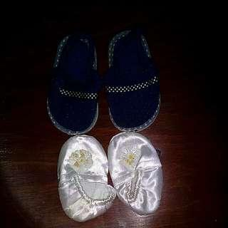 Baptismal shoes and sandals bundle