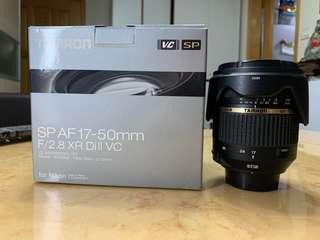 Tamron SP AF17-50mm F2.8 B005NII 9成新 Nikon