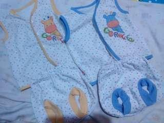 Setelan bayi velvet junior 2pcs
