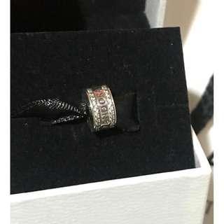 原價$449 Pandora LOGO Spacer Clip 閃石定位扣