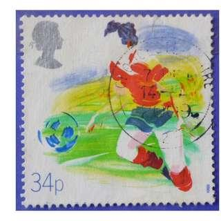 Stamp UK Great Britain 1988  Sports Organizations Football 34p