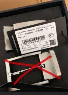 Hugo Boss men's leather belt strap