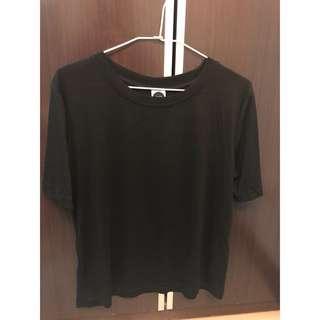 🚚 全新✨Caco舒適柔棉素面上衣 黑色