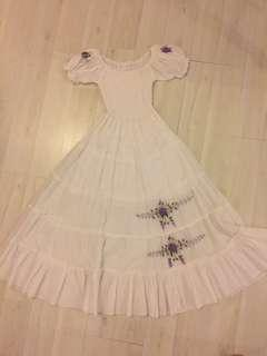 Dress putih anak sz 6th