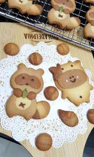 Racoon / Cow Butter Cookies
