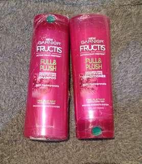 Garnier Fructis FULL & PLUSH Shampoo and Conditioner 370 ml