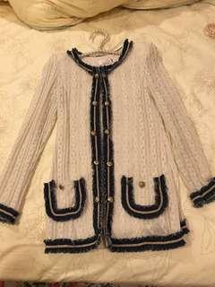 韓國Chanel Style小香風中長外套