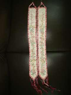 A pair of vintage tapestry