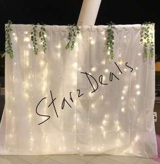 🚚 Fairy Lights curtain 3mx1m battery operated