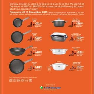 Cold Storage Stamps for Redemption of Masterchef Cookware