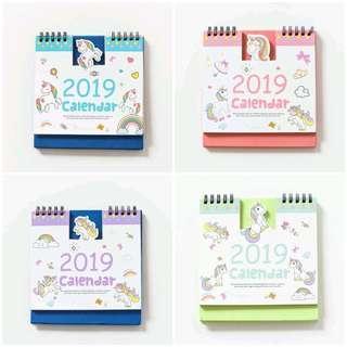 [PO] Unicorn 2019 Desktop Calendar