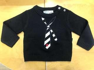 Brand new Agnes b knitted pullover 全新1m-2m男童冷衫