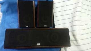 ORiX 1 pair Bookshelf Speaker plus 1 Centre Speaker