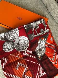 Hermès cashmere silk scarf Hermes