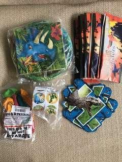 Brand new dinosaur birthday party supplies set