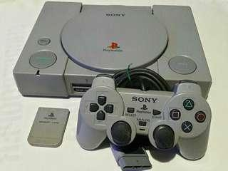 Playstation 1 ps1 with free 10 cd games
