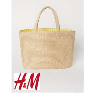 H&M Natural Straw Shopping Beach HandBag