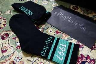 Stokin Bebudak Hipster: 1997 (black long socks) #MY1010